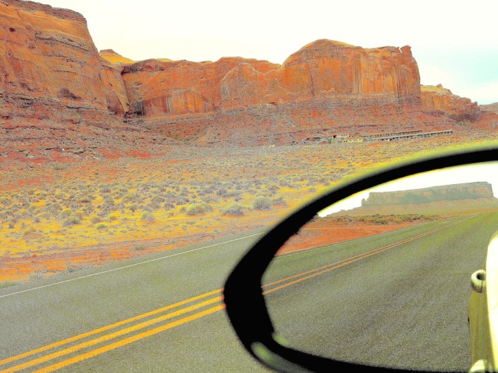 Street leading into Monument Valley, Navajo Territory, Utah