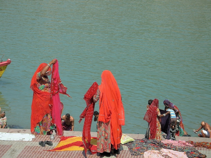 Bathing in the Ganges River, Rishikesh, India