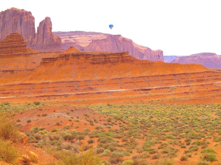 Balloon over Monument Valley, Utah