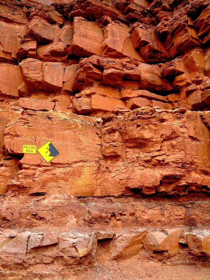 Falling Rock, Monument Valley, Utah