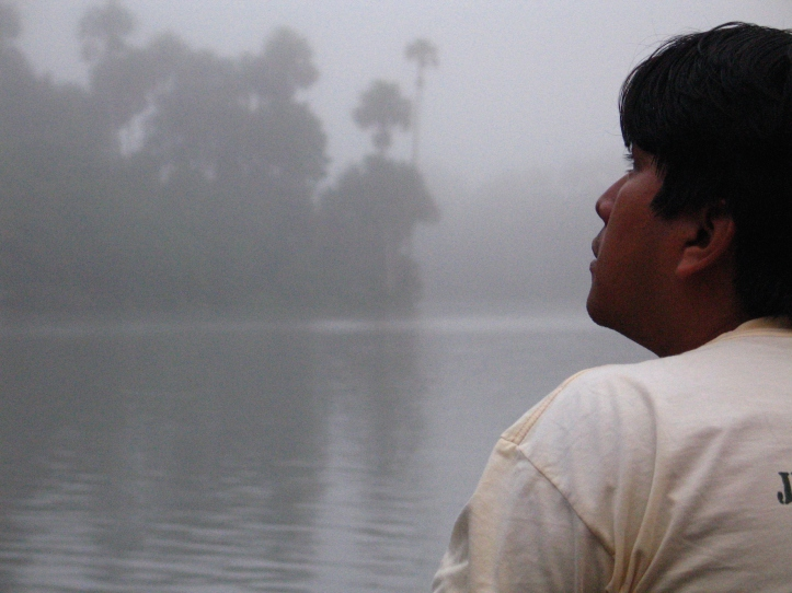 Jogan, our guide on Lago Sandoval, early morning