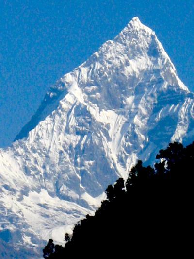 Machhapuchchhre (fish tail) Mountain, Pokara, Nepal