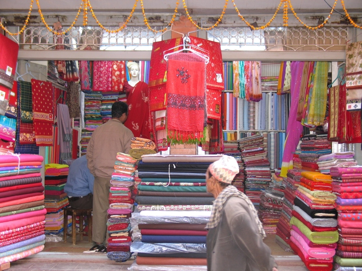 Fabric shop--rainbow of colors