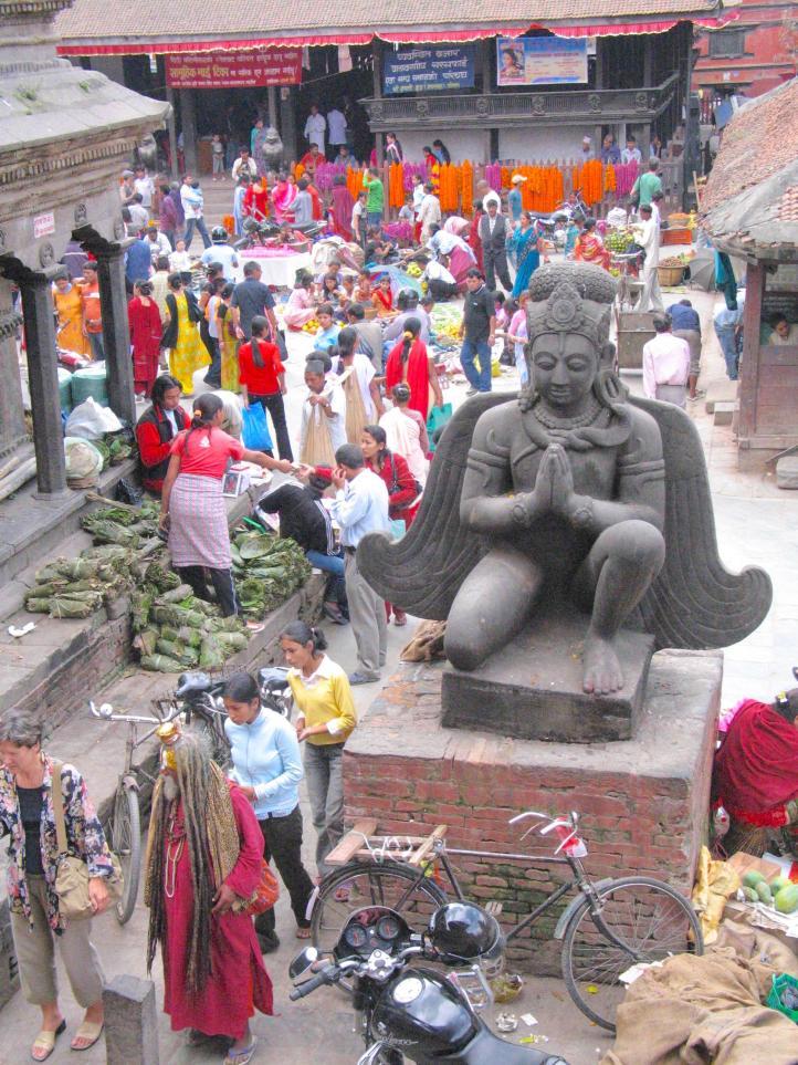 Market in Durbar Square -- more rainbows of color
