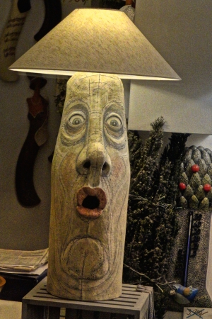funny lamp with face