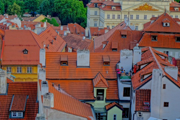 Prague roof tops