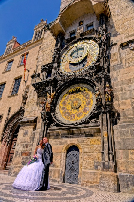 Prague wedding Clock Tower