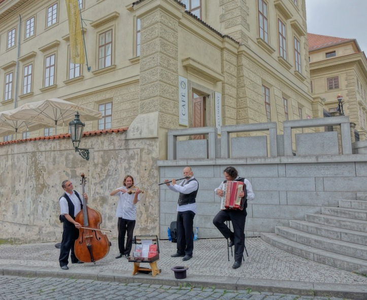 Prague street musicians