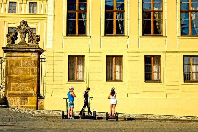 Prague Castle with Segway