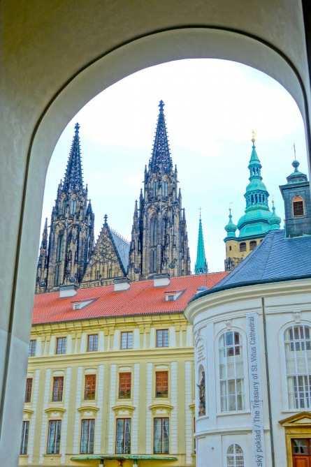 Prague Castle - Spires St Vitus Cathedral