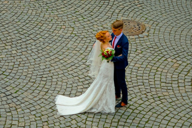 Prague street - wedding