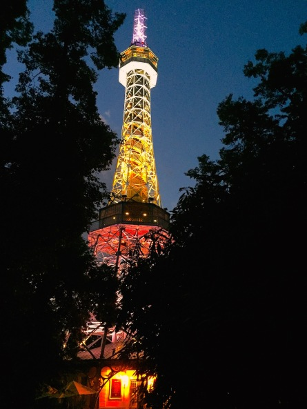 Petrin Tower at night