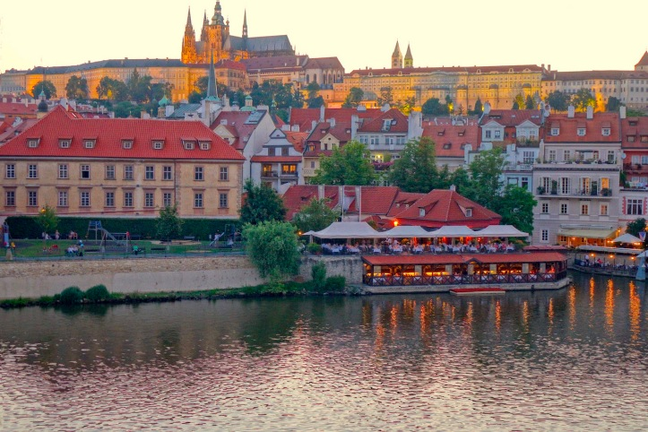 Prague Castle - night lights