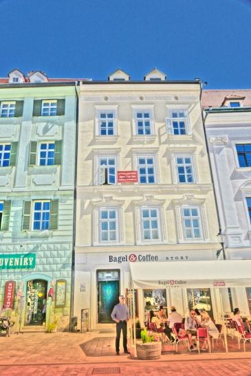 Hlavne Square Bratislava cafe