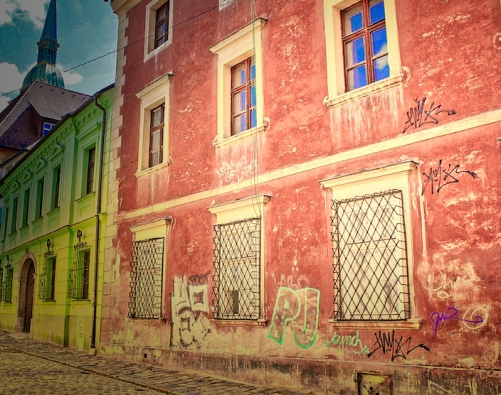 narrow street Bratislava
