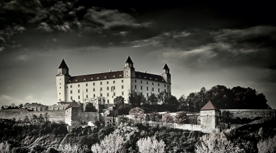 Bratislava castle B&W Slovakia