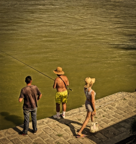 Fishing on Danube River