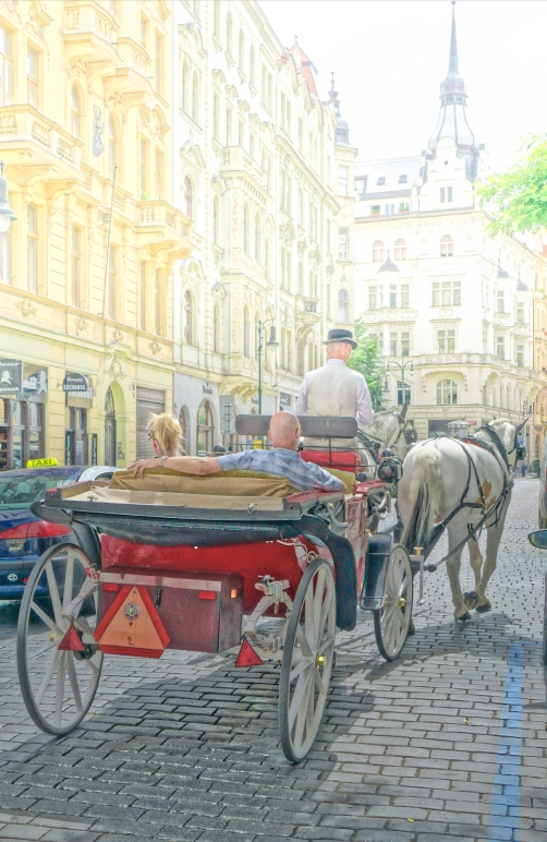 horsedrawn surrey in Prague