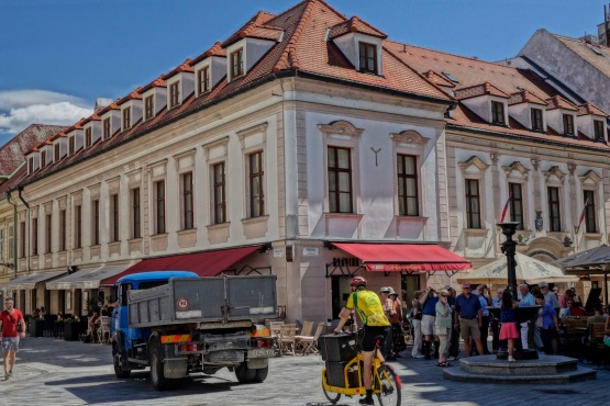Bratislava Old Town street fountain