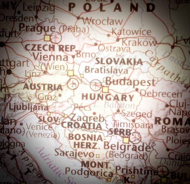 Map- Czech REp & Slovakia area