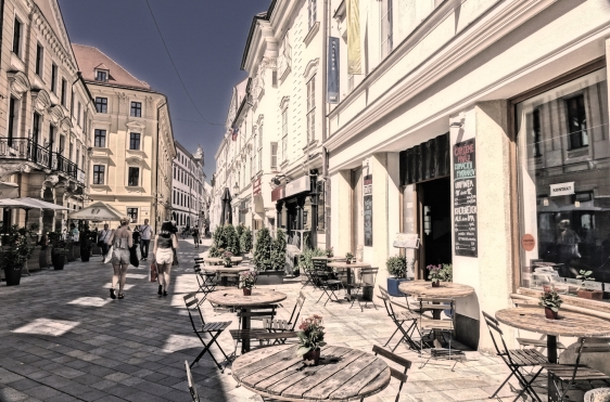Bratislava Old Town cafe