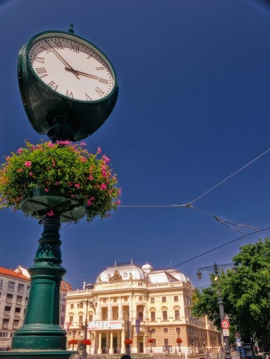 Lamp with flowers, Bratislava