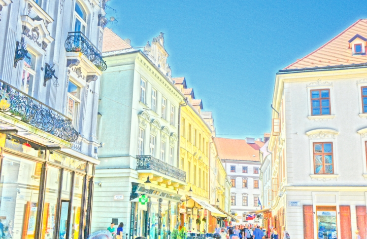 Bratislava Old Town, colorful street