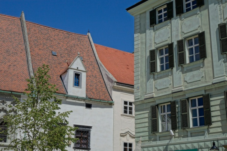Bratislava architecture, windows
