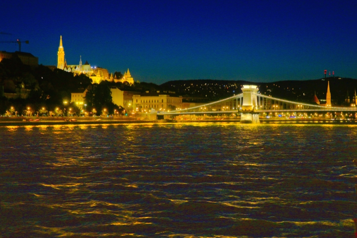 Buda Castle Chain Bridge Budapest night