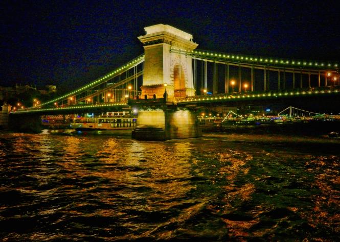 Chain Bridge Budapest night
