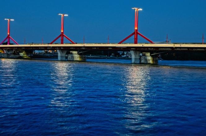 Rokoczi Bridge Budapest night
