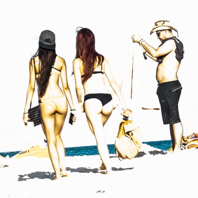 bikini thongs & fisherman