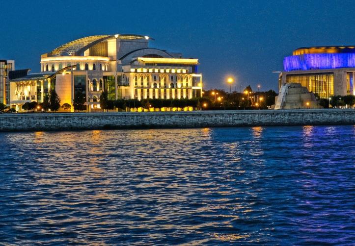 Budapest National Theater night
