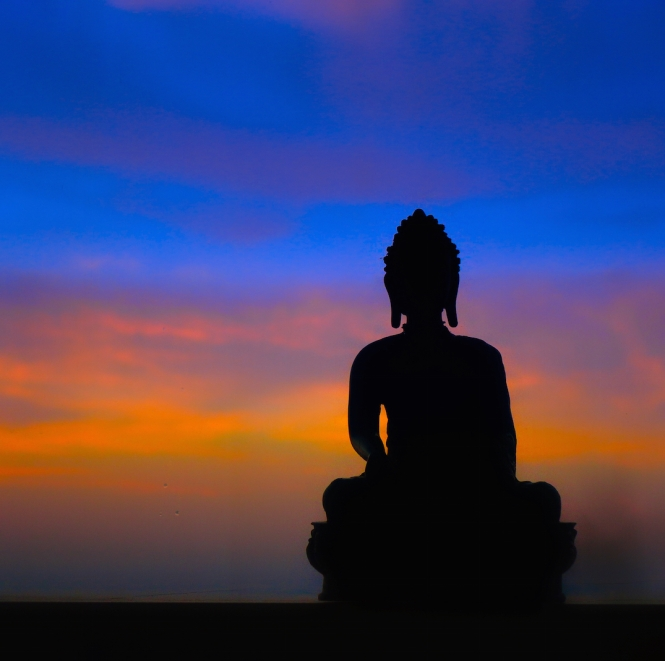 Buddha with sky