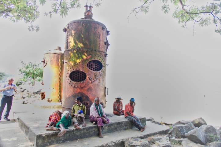 Cochin steam boilers on beach