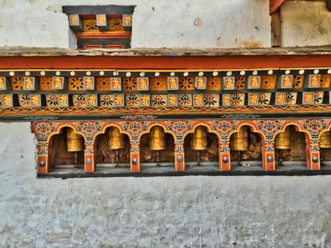 prayer wheels, Bhutan