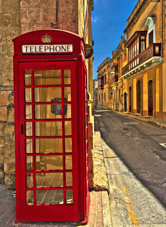 Tarxien, Malta -- red phonebooth