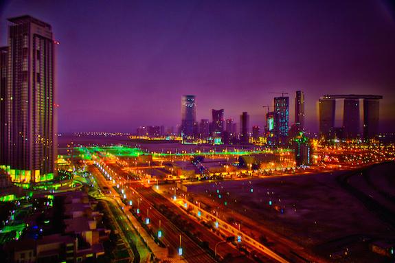 Abu Dhabi, night lights