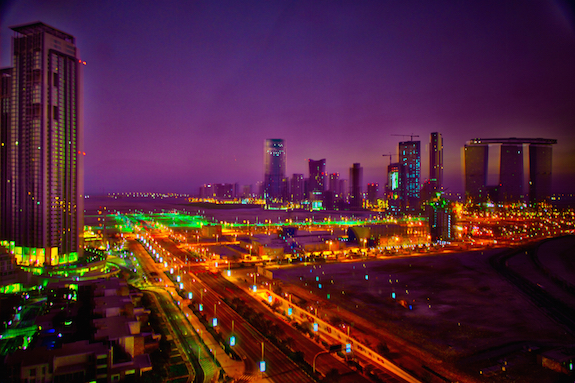 Abu Dhabi, night lights