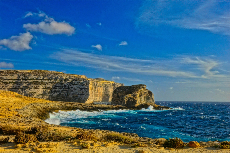 Dwejra Cliffs, Gozo, Malta