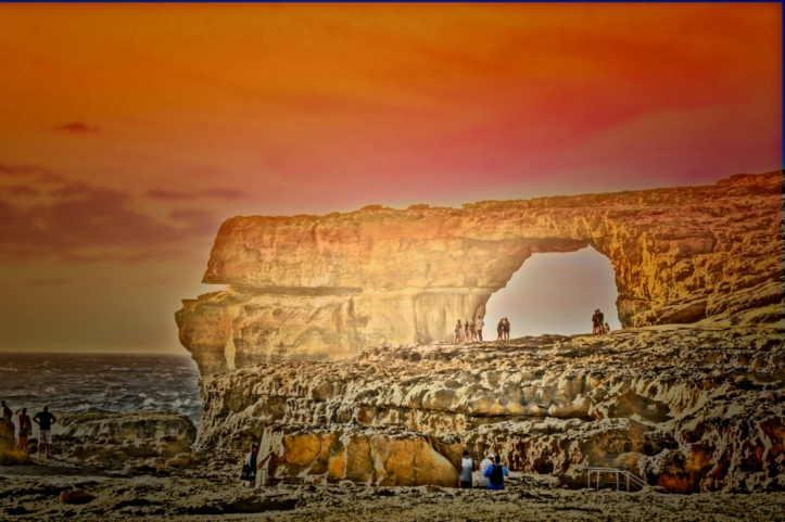 azure-window-malta-sunset