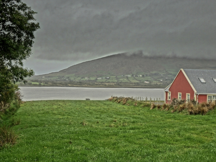 Ireland lake storm clouds