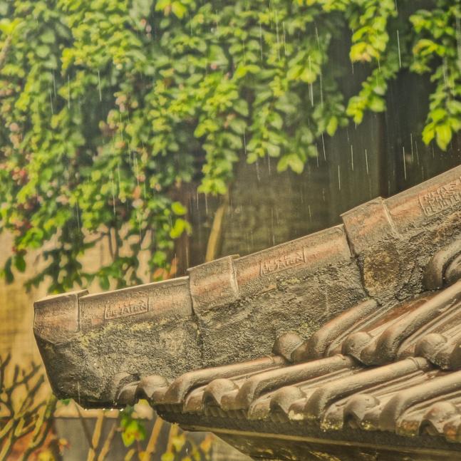 Bali tle rooftop & rain